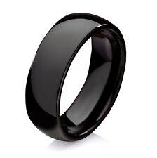 Schwarzer Ring aus Wolfram Tungsten mit induvidueller Ringe Lasergravur W721
