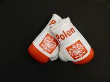 Paar Mini Boxhandschuhe Polen z.B. für Auto Innenspiegel Kunstleder Geschenk