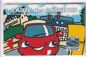 PIAF PARKING CARTE / CARD .. NANTES CENTRE 44 AUTO CAR NGE OUEST MAGNETIQUE