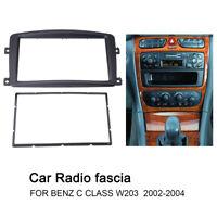2 DIN Radio DVD fascia Trim Panel Dash Mounting for Benz C Class W203 2002 - 04