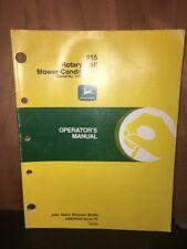 John Deere Operators Manual 915 Rotary Roll Mower Conditioner