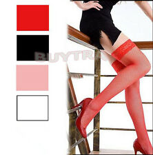 Expected Women Lace Stockings Large Fishnet  Long High Skinny Hosiery Socks