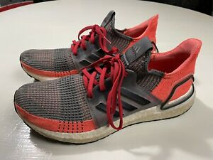 adidas Ultra Boost 19 Hi Res Orange/Gray 2019 Sneakers Shoes G27517 Sz. Men 9.5