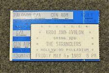 THE STRANGLERS Concert Ticket Stub May 8, 1987 Hollywood Palladium