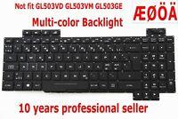 Swedish Nordic Keyboard for Asus ROG GL503VS (Not Fits GL503VD GL503VM GL503GE)