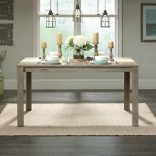 New listing Rustic Wood Dining Table Grey Weathered Look Industrial Kitchen Farmhouse Table