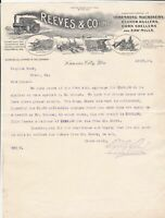 U. S. Reeves & Co. Inc. Kansas City Illustrated 1904 Machinery Receipt Ref 40182