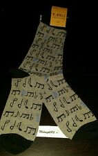 🎵K. BELL MUSIC NOTES MEN'S DRESS SOCKS 🎶 SHOE SZ 6.5-12 🎶 SOCK SZ 10-13🎵