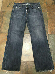 """MANKIND Jeans 36 x 33""""  Relaxed Distressed Button Fly Boot Leg B"""