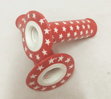 BMX / MTB Vintage Old School Grips Star NOS Haro Mongoose Handle Grips Red