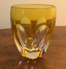 Faberge Lausanne Vodka Shot Glass Yellow Gold Cased Crystal Signed