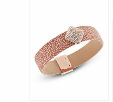NWT MICHAEL KORS Pink Or White Leather Bangle Bracelet MKJ5229791 $125