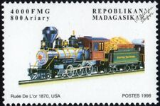 DENVER & RIO GRANDE Railroad (DRGW) Gold Rush 4-6-0 Steam Train Locomotive Stamp