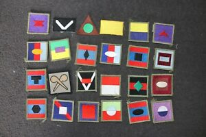 MODERN AUSTRALIAN ARMY COLOR COLOUR PATCHES DIVISIONAL FORMATION SIGNS X 24 #1