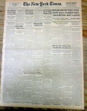 1939 NY Times newspaper Boston Red Sox rookie TED WILLIAMS hits his 1st HOME RUN