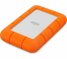 LACIE Rugged Portable Hard Drive - 2 TB, Orange & Silver