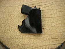 Front Pocket Semi-Auto Leather Gun Holster Black Made In USA Beretta,Colt,Kahr..