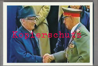 AK40 Ansichtskarte Armeegeneral Heinz Keßler Erich Honecker DDR 14,8x10,5 cm