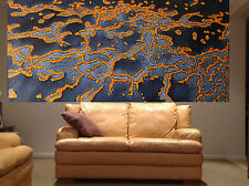 Reef Ocean Art painting aboriginal inspired 240cm x 90cm  By Jane Huge Size