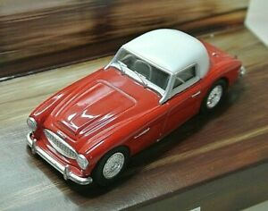 Corgi Classic D733 Austin Healey 3000 in Red with White Roof Scale 1:43