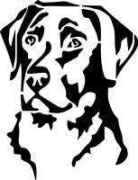 Labrador Retriever Head Decal Window Bumper Sticker Car Dog Love Pet Lab Lover