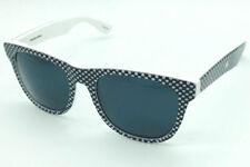 "Mosley Tribes ""Free City"" BWCHK Polka Dot White & Black on White/Grey Sunglasses"