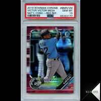 2019 Bowman National Convention Red Refractor #/5 Victor Mesa RC #BNR-VVM PSA 10