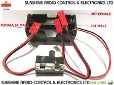 RC JST Futaba Battery Box & Switch Aeroplane Glider Car Receiver Switch Harness