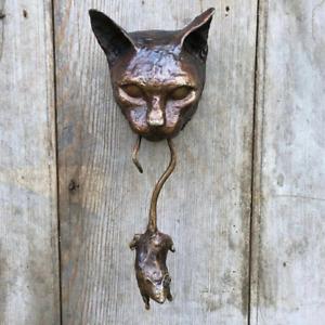Creative Cat Wall Statue Decoration Art Sculpture Figurine Home Decor