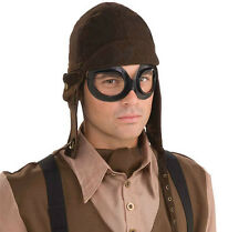 #STEAMPUNK AVIATOR KIT ADULT ONE SIZE HAT GOGGLES  FANCY DRESS ACCESSORY