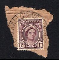 Australia WALLGROVE NSW postmark on WW11 era piece