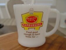 Fire-King Burger Chef Hamburgers Drive-In Restaurant Advertising Coffee Mug