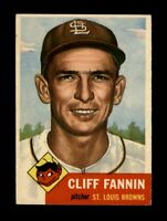 1953 Topps Baseball #203 Cliff Fannin (Browns) EX+