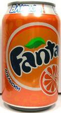 FULL NEW 11oz 330ml Can Genuine Russian Orange Fanta Cyrillic Russia 2009