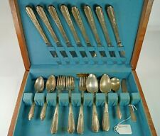 33 Pieces of Hiawatha Memory Pattern Silverplate Flateware by Wm. Rogers