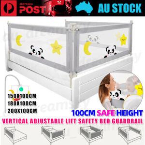 100CM Height Adjustable Folding Bed Rail Kids Safe Toddler Fence Fall prevention