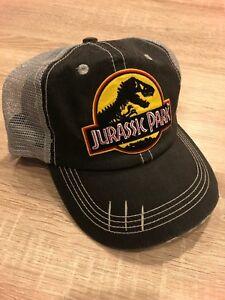 Jurassic Park Claw Mark Brim Trucker Hat Embroidered Patch Cap Movie Park World