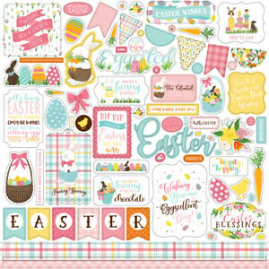12x12 Sheet of Echo Park Paper I LOVE EASTER Scrapbook Element Stickers