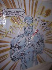 Silver Surfer 24x24 Pintura Al Óleo no impresión fantástica 4 Enmarcado avail. Spiderman