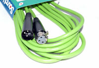6m Microphone, Mixer, Speaker Cable XLR Male to Female Green