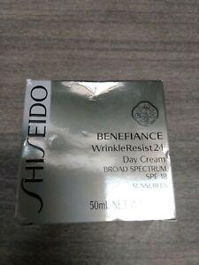 SEALED Shiseido Benefiance WrinkleResist24 Day Cream SPF 18 50 ML 1.8 OZ ***