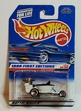 1998 Hot Wheels White/Black  HOT SEAT CAR First Editions 13/40 Car #648