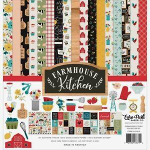 "Echo Park 12"" X 12"" Paper Collection Kit Farmhouse Kitchen NEW"