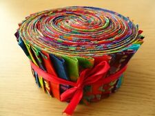 JELLY ROLL STRIPS 100% COTTON PATCHWORK FABRIC BATIKS 40 PIECES