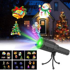 Christmas Halloween LED Laser Light Bracket Projector House Landscape Spotlight