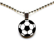 Soccer Pendant with Adjustable Chain Necklace