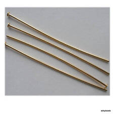 50 X 50 mm head pins Gold plated thick hard top quality nickel and lead free.