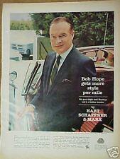1965 Bob Hope Hart Schaffner&Marx Mens Suits Fashion Ad