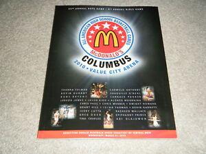 2010 McDONALDS ALL AMERICAN PROGRAM HARRISON BARNES BRANDON KNIGHT KYRIE IRVING+