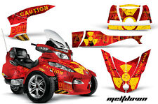 AMR RACING GRAPHICS DECAL WRAP KIT FOR BRP CANAM SPYDER RT CAN-AM - MELTDOWN RED